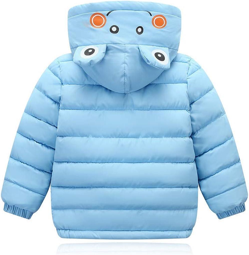 Kintaz Toddler Kids Girl Boy Winter Cartoon Geometric Banana Hooded Coat Windproof Jacket 4-5 Years, Khaki