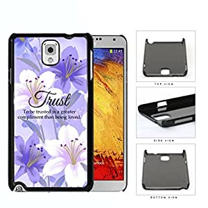 Trust Quote on Purple Lilac Floral Garden George MacDonald Hard Snap on Phone Case Cover Samsung Galaxy Note 3 N9000