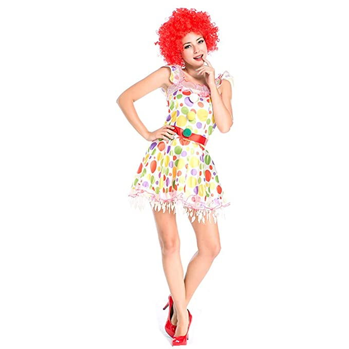 Amazon.com: Peluca de mujer con dibujos animados de circo de ...