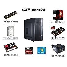 XDS Electronics Custom Gaming Pc Computer AMD FX-6300 Six Core 3.5 GHZ (Turbo 4.1 GHZ) / AMD Radeon 2GB R9 270 Gaming Video Card / 8GB Memory / 120GB SSD + 1TB HD / WIFI Ready / DVDRW / Windows 7 Pro 30 Days Trial