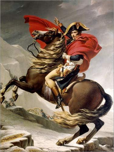 Posterlounge Cuadro de Madera 60 x 80 cm: Napoleon Crossing The Alps de Jacques-Louis David/akg-Images