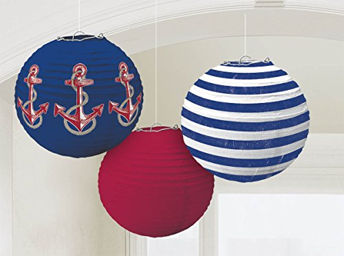 Anchors-Aweigh-Nautical-Party-Round-Lanterns-Decoration-Paper-9-Pack-of-3