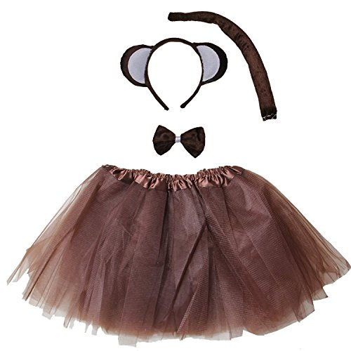 Kirei Sui Kids Costume Tutu Set Monkey]()