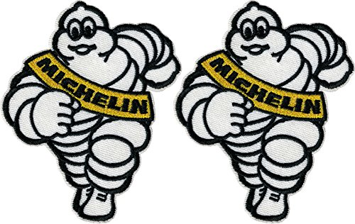 2 pieces MICHELIN MAN Iron On Patch Fabric Cosplay for sale  Delivered anywhere in USA