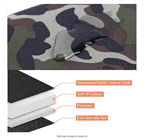 Icreopro Car Hammock Pet Dog Cat Seat Covers protector Waterproof Portable Travel Single Auto Rear Seat Protector Cover Mat Pad Camo,Easy Installation Fits Most Cars,SUV(150cm*125cm*35cm)