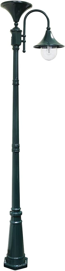 Gama Sonic GS-109S-GR Everest Downlight Lamp Post Outdoor Solar Light Fixture and Pole, Green