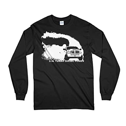 Amazon.com: Dodge Ram 5.9l Diesel Rolling Coal Burnout Long Sleeve T-Shirt: Clothing