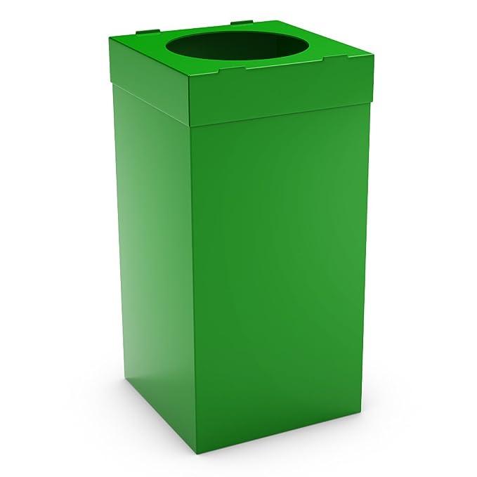 Urbaniere Contenedor Reciclaje 80L Azul/ Bolsas de Basura Resistentes/ Basura/Ideal para Interiores y Exteriores /Cubo de basura barato en plástico ...
