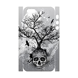 3D Bumper Plastic Customized Case Of Skull for iPhone 5,5S
