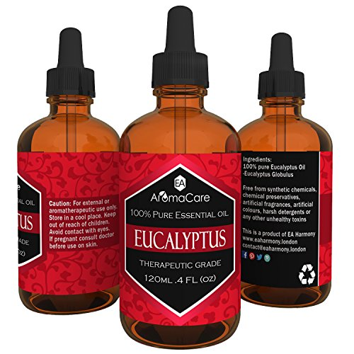 SALE!!! **NO CODE REQUIRED** Just Check Out!! EA AromaCare Eucalyptus Essential Oil 120 ml/4oz 100% Pure, Therapeutic Grade, 1 x 120ml bottle