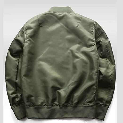 Amazon.com: Chaqueta para hombre MA-1 Pilot Bomber a la moda ...
