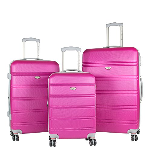 American Green Travel Hardside Luggage Set, Pink by American Green Travel