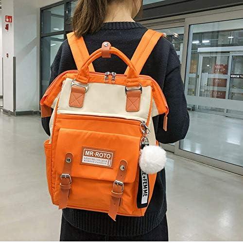日本と韓国風のバックパック野生の高校生中学生原宿森の学校のバッグのバックパック女性の傾向シンプルキュートな性格 (Color : Brown)