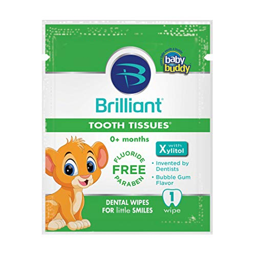 Wipes Brilliant Tooth Tissues With Xylitol Bubble Gum