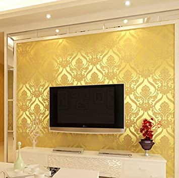 Buy 10mx53cm Wallpaper Rolls Luxury Embossed Patten Textured Home