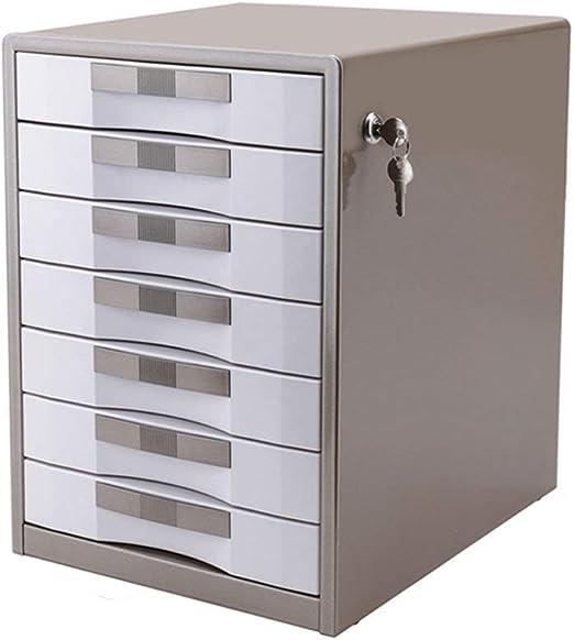 QZ Gabinetes para Archivos 7 Capas con Cerradura Mesa De Oficina ...