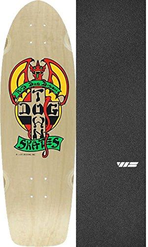 パワーセル重さ敬意を表してDogtownスケートボードogクラシックレッド犬ナチュラル/レッド/イエローOld Schoolスケートボードデッキ – 9