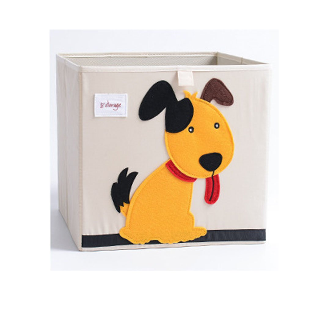 Cute Animal Cartoon Oxford Fabric Storage Bins Foldable Cube Box For Kids Toys Clothes