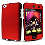 Red Rubberized Hard Case Cover for Apple iPod Touch 4 / iTouch 4th Generation