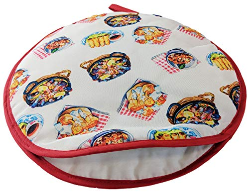 MABUA 12 Inches Tortilla Warmer Insulated and Microwaveable, Fabric Pouch Keeps Them Warm for up to One Hour! Perfect Holder for Bread, Tortillas, Roti, Patacones, Tostones, Empanadas, Arepas and Corn