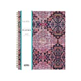 Nicole Miller for Blue Sky 2019 Weekly & Monthly Planner, Flexible Cover, Twin-Wire Binding, 8.5' x 11', Heirloom