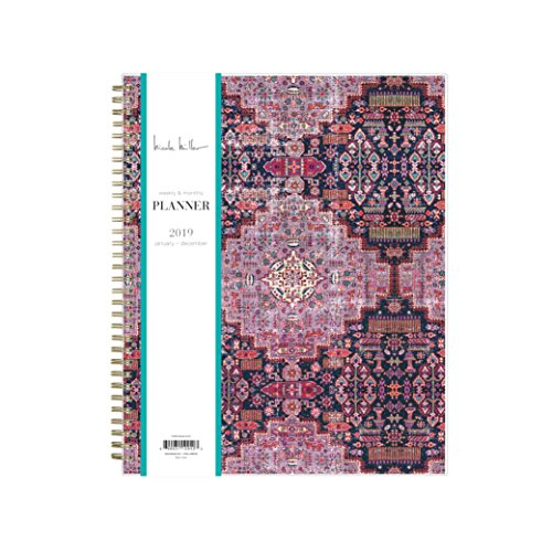 Blue Sky Binders - Nicole Miller for Blue Sky 2019 Weekly & Monthly Planner, Flexible Cover, Twin-Wire Binding, 8.5