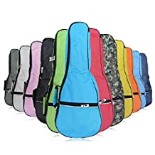 HOT SEAL Waterproof Durable Colorful Ukulele Case Bag with Storage (21in, pink)