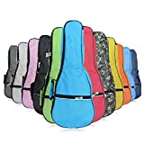 HOT SEAL Waterproof Durable Colorful Ukulele Cotton Case Bag with Storage (21in, camouflage)