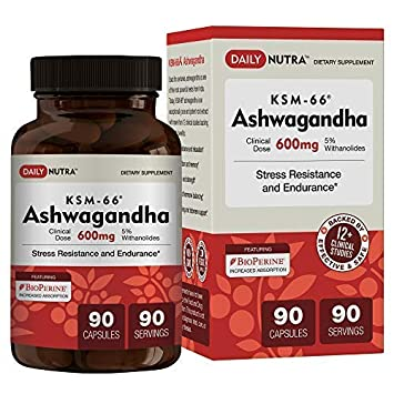 KSM-66 Ashwagandha 600mg - Organic Root Extract - High Potency 5%  Withanolides - Health Benefits