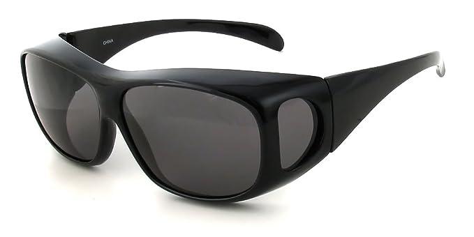 fc2af87dfa Amazon.com  Calabria Wear-Over Rx Polarized Sunglasses 4599 in Black ...