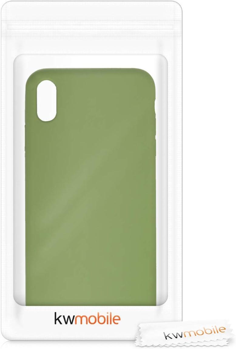 kwmobile Funda Compatible con Apple iPhone XS MAX Cover Trasero en Coral ne/ón Carcasa de TPU para m/óvil