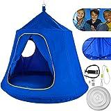 Mophorn Hanging Tree Tent 45 diam x 54 H Hanging Tent Swing Tent Waterproof Hanging Tree&Ceiling Hammock Tent Green Kids Outdoor Tents Playhouses (Blue)
