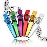 Kazoos Multipack Metal kazoo Instrument, Set of 6 Colorful(Great Gift for Kids Music Lovers,Kazoo Kid Trap Music)