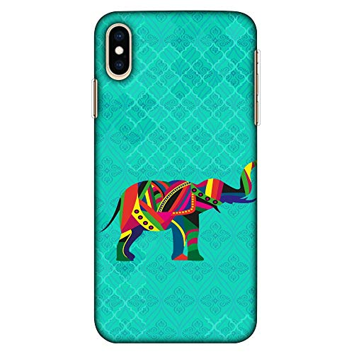 Amzer Ultra Thin Slim Fit Designer Hard Shell Case Back Cover Skin for Apple iPhone Xs Max - Elephant Parade HD Color, Light Weight]()
