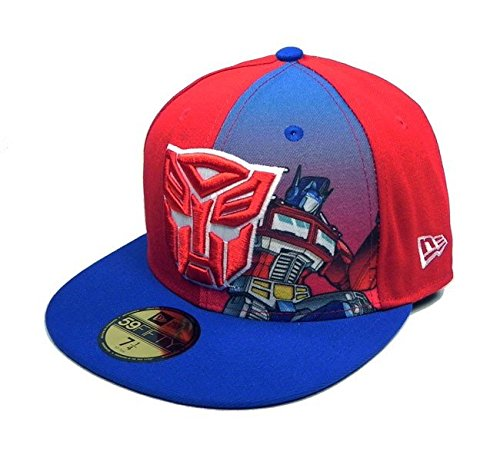 New Era 59Fifty HAT Hero Transformers Autobots Panel Sub Official Fitted  Red Royal Blue Cap af103d9e414