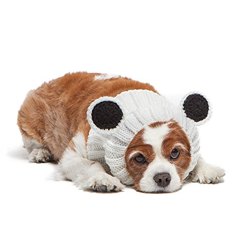 Zoo Snoods Panda Bear Dog Costume - Neck and Ear Warmer Headband Protector (Medium)