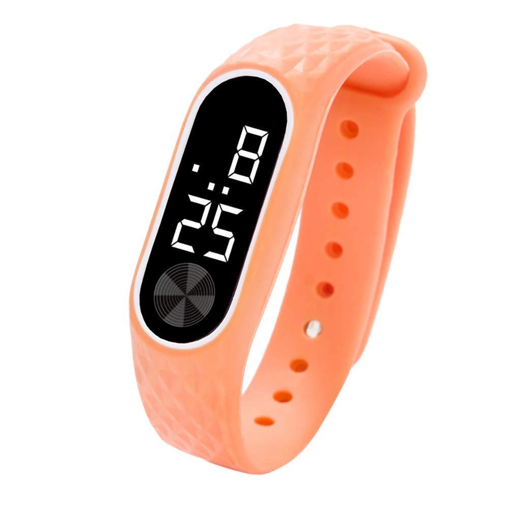 NRUTUP LED Digital Display Bracelet Watch Children's Students Silica Gel Sports Watch Hot Sales(Multicolor,Free Size)