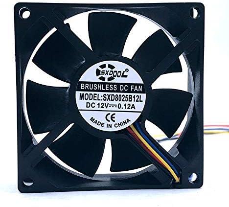 10pcs cooling fan 8cm new sxdool sxd8025b12l dual ball DC 12V 0.12A 3300RPM replace AFB0812SH AUB0812VH AUB0812SH cooling fan