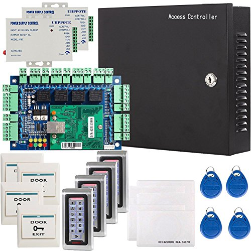 UHPPOTE Network RFID Access Control Board System Including Power Supply Keypad Reader, Power's Transformer with UL Recognized