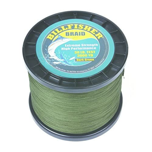 Image of Artificial Bait Billfisher BB3000-30 Braid, 30 lb/3000 yd, Dark Green