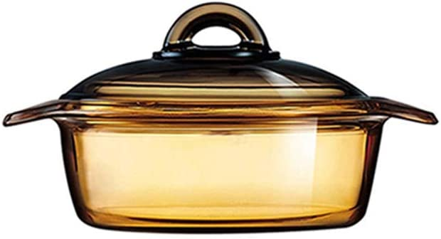 Luminarc Vitro Blooming Heat-resistant Glass Cooking Pot (1L)