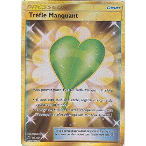 "Carte Pokémon SL5 ""Trèfle Manquant"" 168/156 - Secrète Rare"