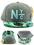 zephyr hats mlb - American Needle New York City Night Bright Floral Gray Green Strapback Hat Cap