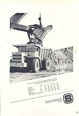 1963 Haulpak Construction Dump Truck Ad German