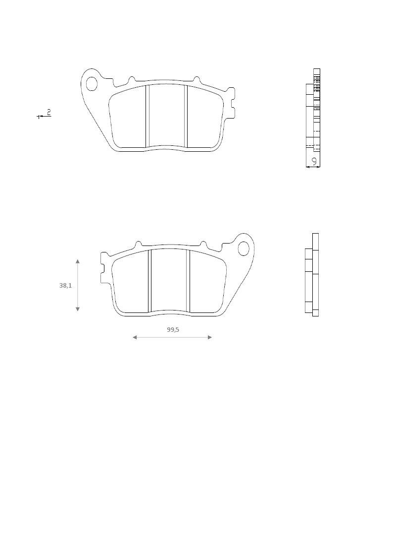 Lot de 2 Brenta ft 4129/Plaquettes de Frein sinterizzate moto