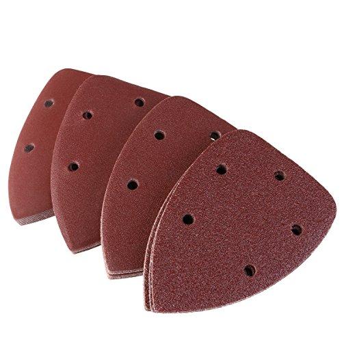 Pixnor 40pcs Mouse Detail Sander Sandpaper Sanding Paper Hook Loop Assorted 40 80 120 240 Grits ()