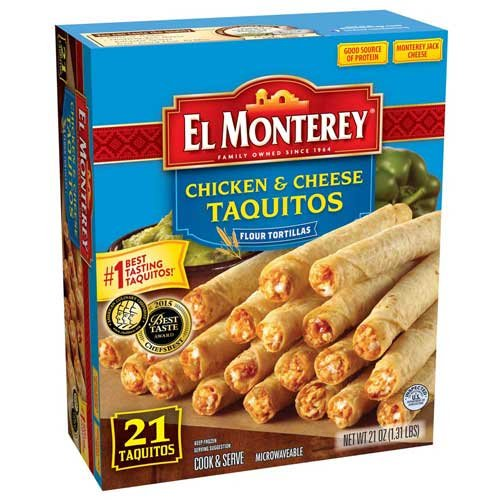 Country Ketchup (El Monterey Chicken and Cheese Flour Taquitos , 1.31 Pound -- 5 per case.)