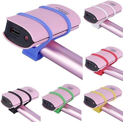 Schwarzes 2.2cm Fahrrad das Silikon-Gummiband-Verbandlichtlampen-Einfassungs-Halter einen Kreislauf durchmacht Freies Verschiffen KEKDORY Hei/ßer 2pcs 13.8