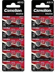 Camelion Plus alkaliskt knappcell AG13/LR44/LR1154/357 20er