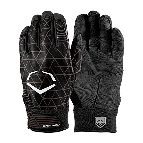 EVOSHIELD EVOCHARGE BATTING GLOVES WTV4100 バッティンググローブ 各色  [並行輸入品] B07D1J8QVL MENS(M)|BLACK BLACK MENS(M)